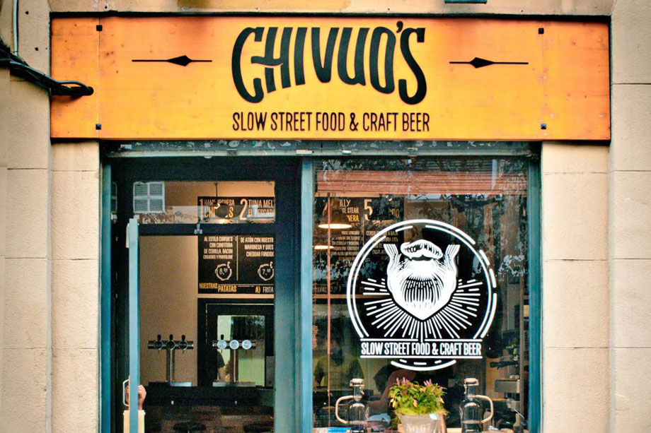 Chivuo's slow street food and craft beer barcelona