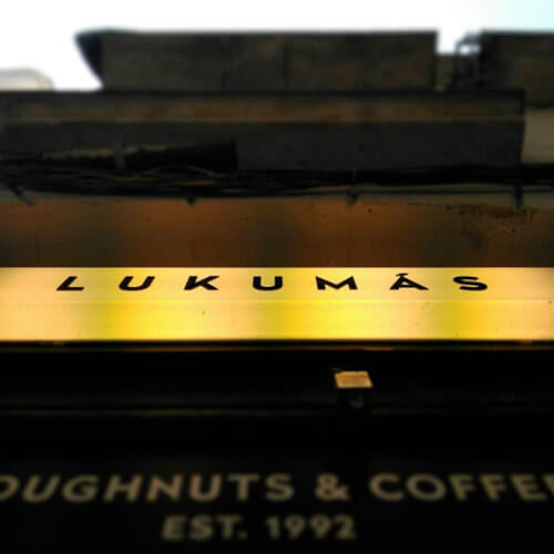Lukumas donuts and coffee in Barcelona in Gracia and Raval